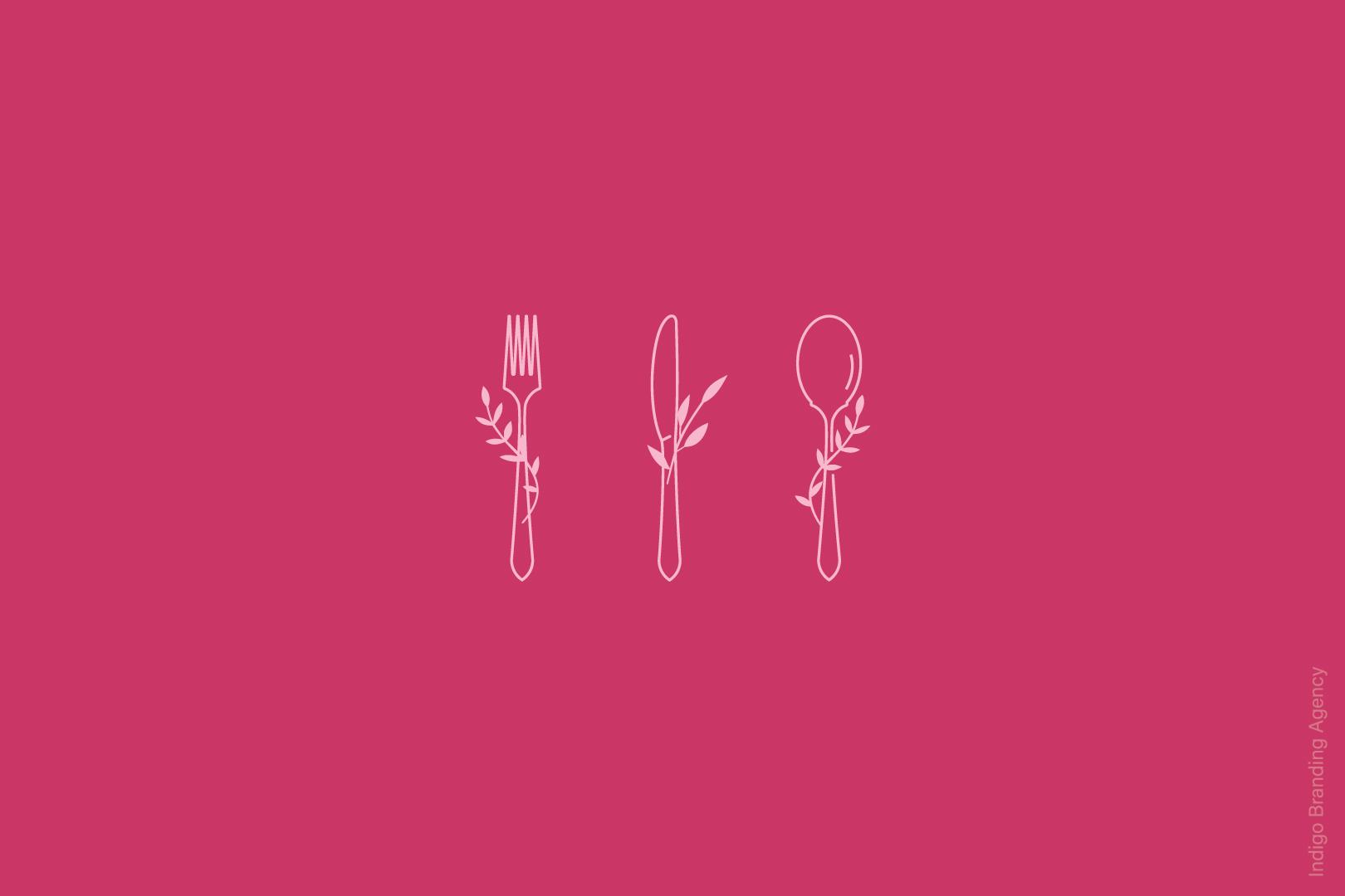rooby cafe logo branding design