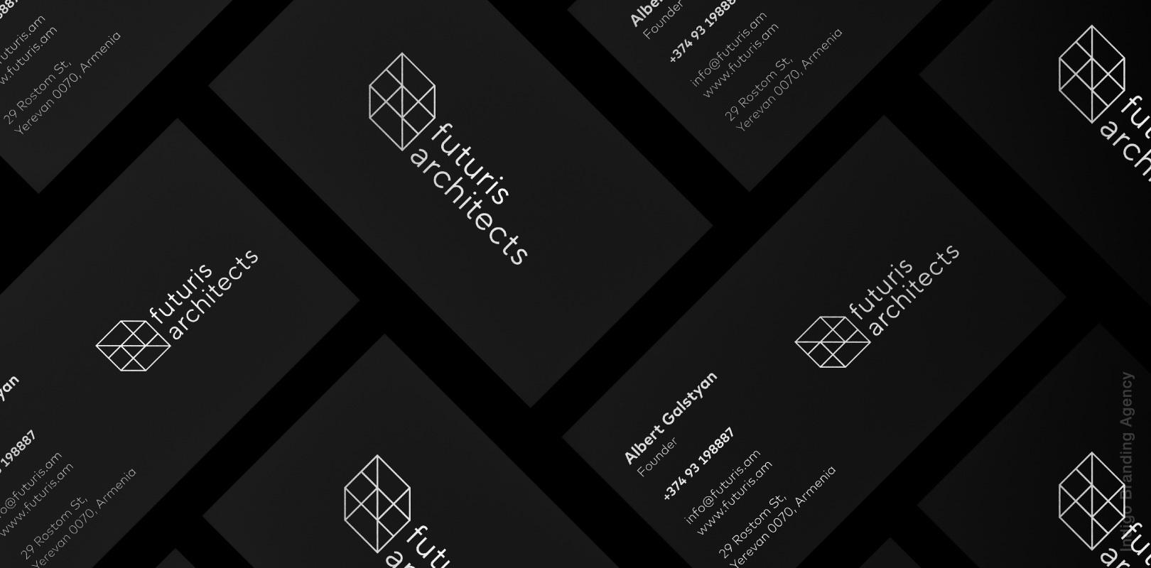 visit card design architectural branding mockup futuris architects interior design