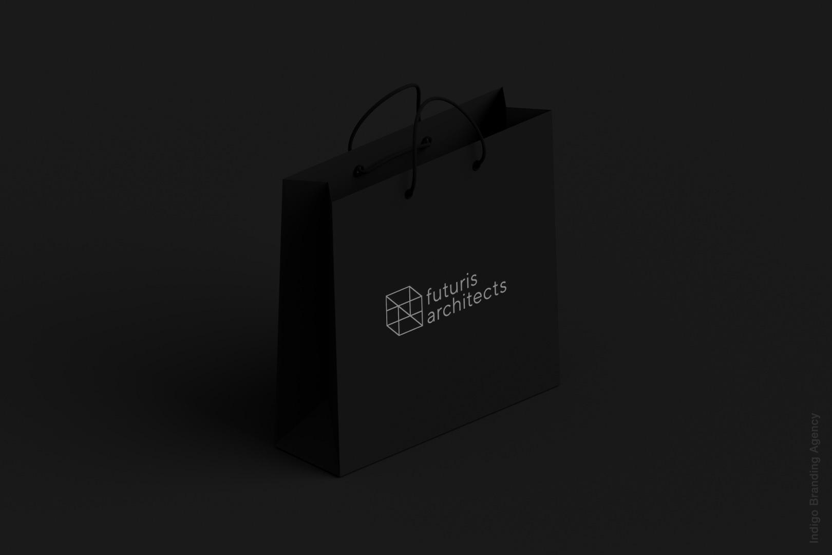 packaging design architectural branding mockup futuris architects interior design bag