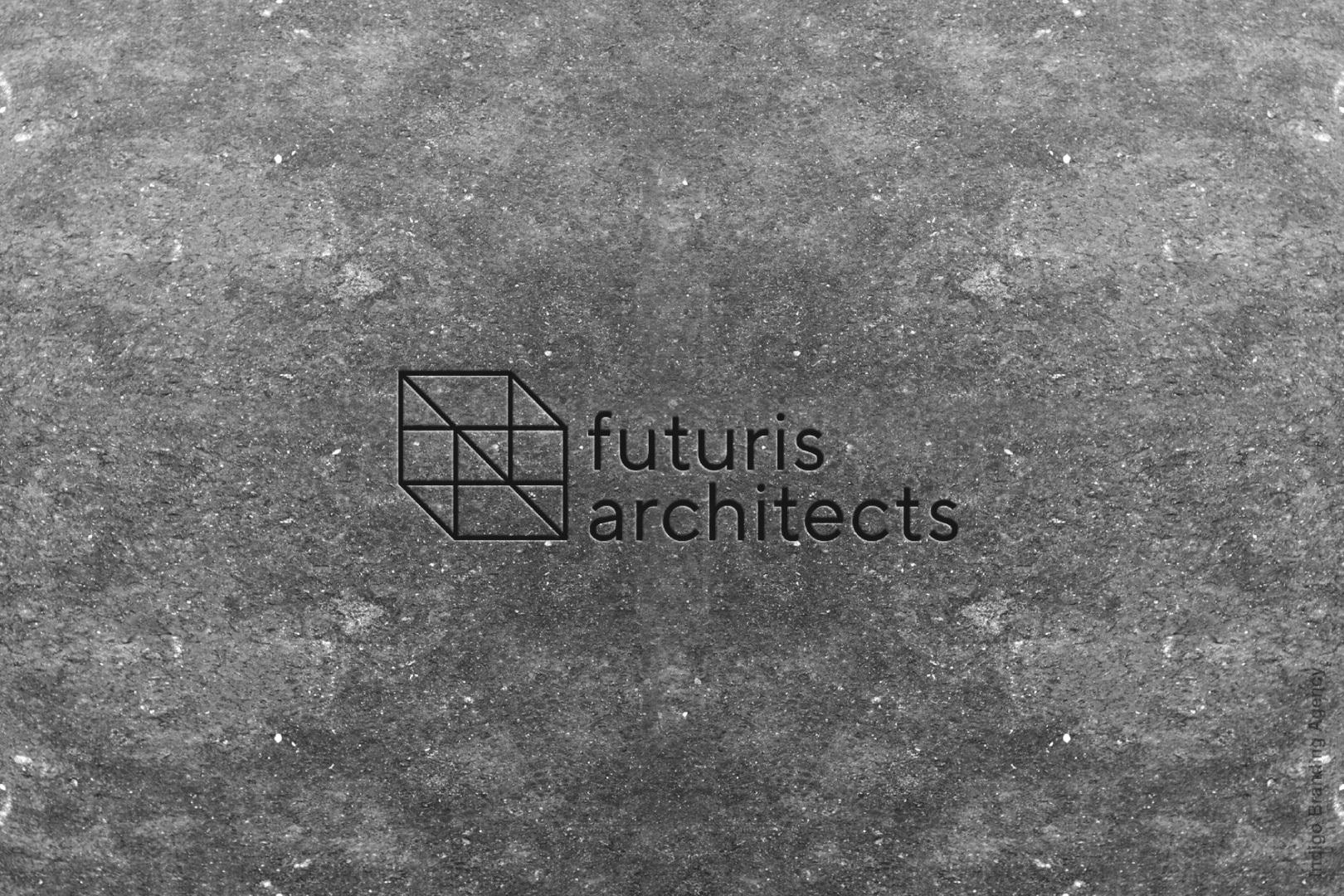 building design architectural branding mockup futuris architects interior design wall engraving