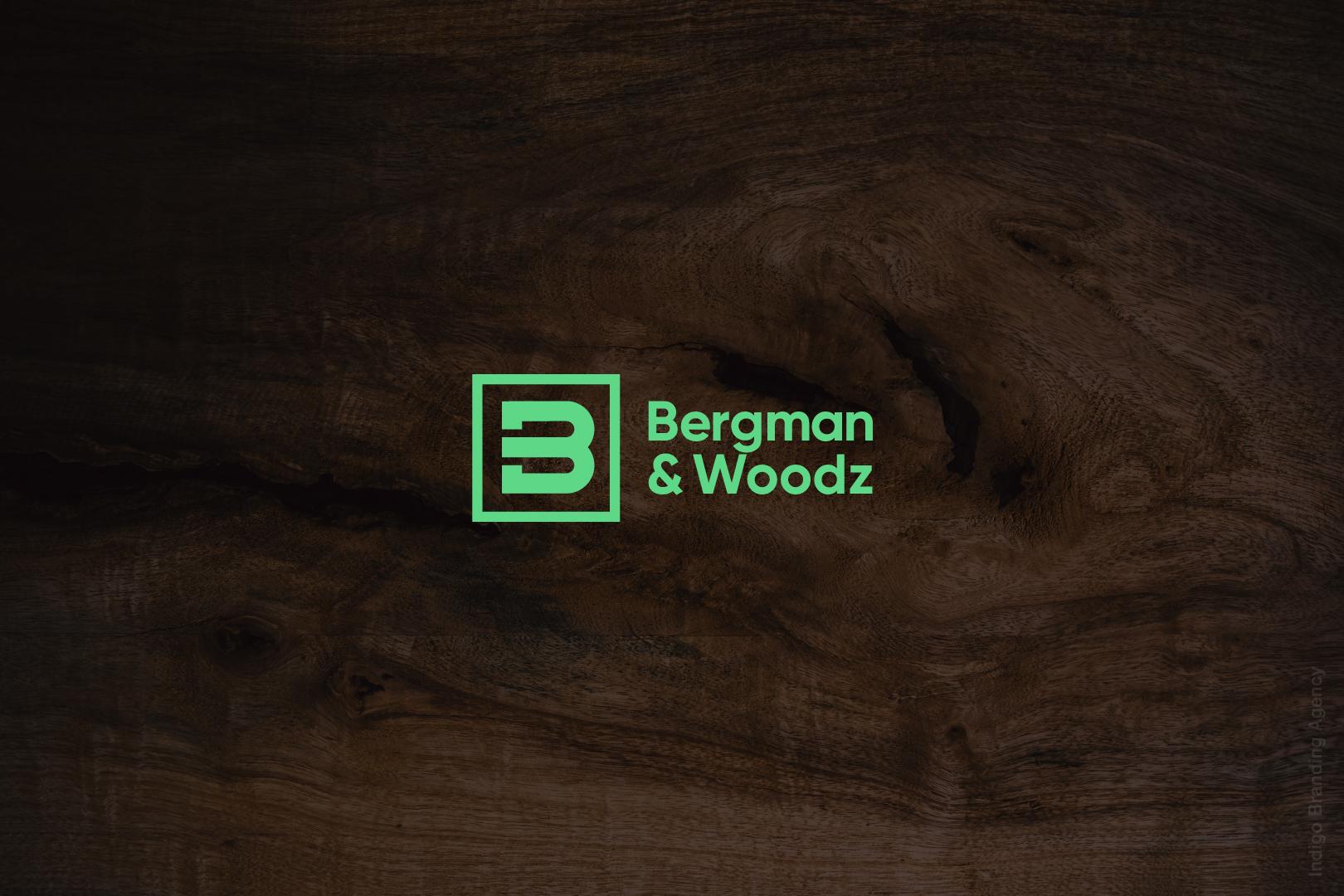 bergman woodz furniture production design wood branding logo design naming indigo branding