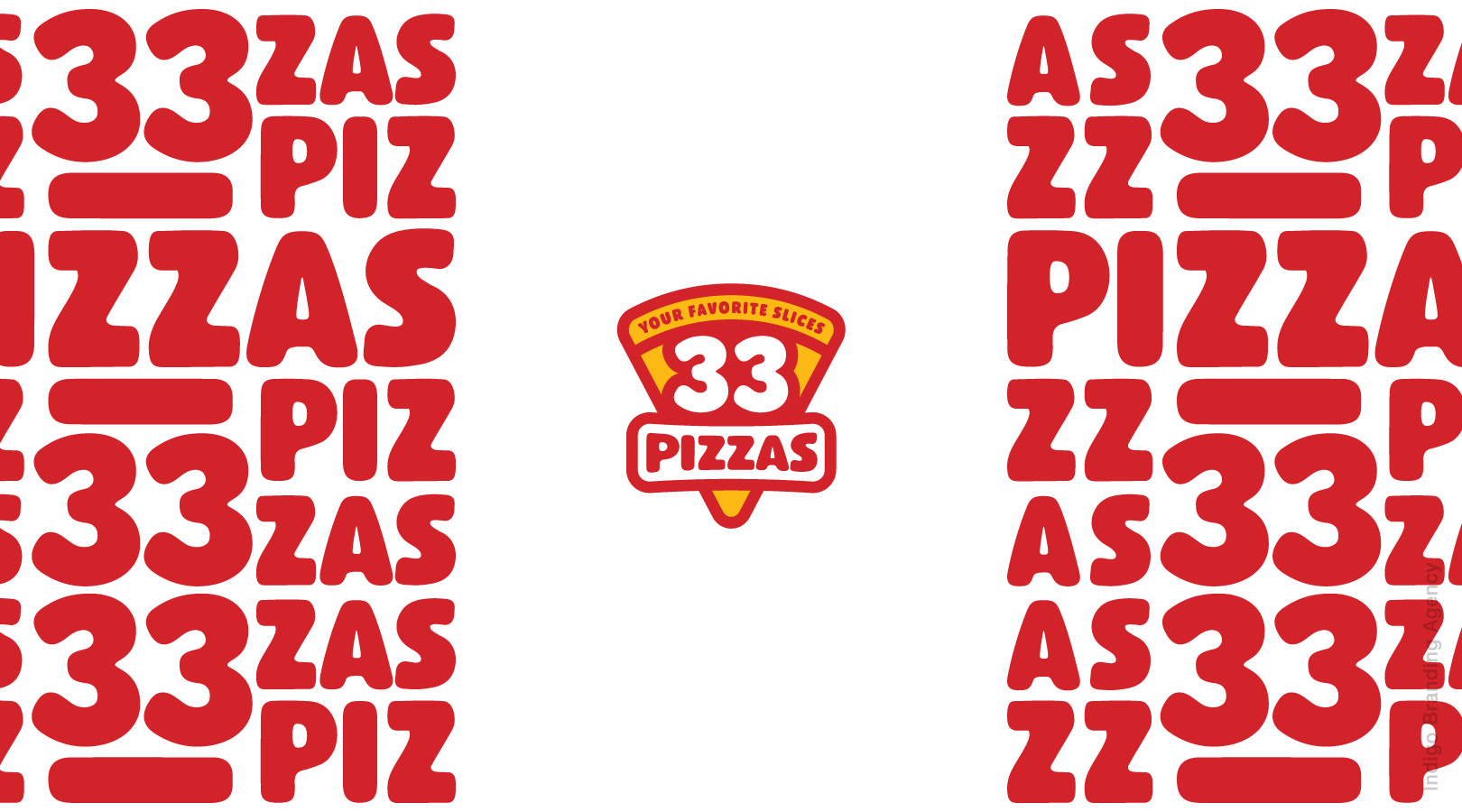 pizza packaging design and branding done with red and yellow colors by indigo branding agency located in Yerevan
